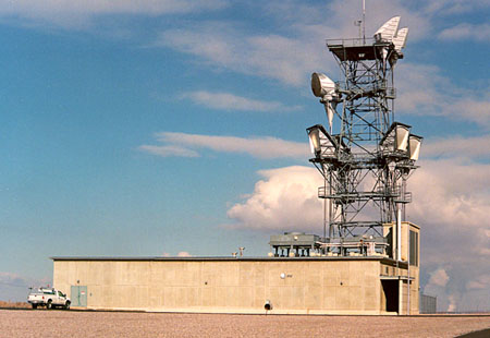 Situated on Leamington Summit,  AT&T Leaminton threw signals an impressive distance
